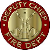 Fire Department Deputy Chief Collar Brass