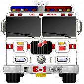 White Fire Engine