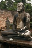 Seated Buddhas In Vatadage Temple In Polonnaruwa