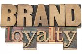brand loyalty - business concept - isolated text in letterpress wood type printing blocks poster