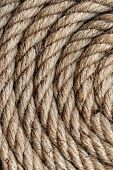 Background Texture Of Coiled Rope