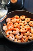 Frying Shrimp