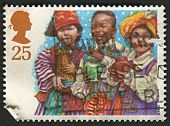 UK - CIRCA 1994: A stamp printed in UK shows image of the Three Wise Men, Christmas, Children's Nati