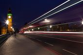 light trails in london