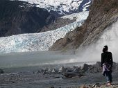 Woman at Alaska Glacier