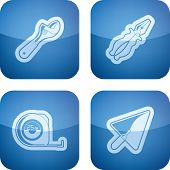 stock photo of lineman  - 4 icons from Construction Industry theme from left to right top to bottom - JPG