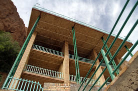 stock photo of zoroastrianism  - Building in zoroastrian fire temple Chak - JPG