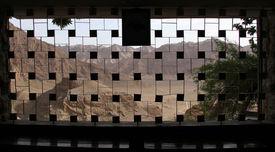 pic of zoroastrianism  - Window of zoroastrian temple Chak - JPG