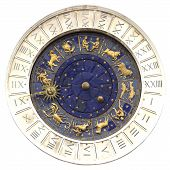 stock photo of planetarium  - Zodiac clock at San Marco square in Venice - JPG