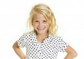picture of sassy  - Cute little girl with a sassy and fun expression - JPG