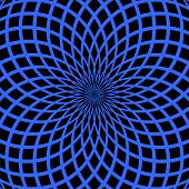 Abstract blue background. Rotation pattern. Vector art.