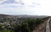 Diamondhead And The City Of Honolulu On Oahu Panoramic