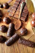 Chocolate, truffles,cocoa powder