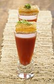 Tomato Soup Shooter With Grilled Cheese Appetizers