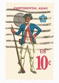 United States Stamp of Continental Army