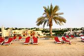 Beach Of The Luxury Hotel During Sunset, Ras Al Khaima, Uae
