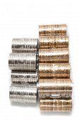 eins und zwei kanadischen Dollar-Münzen