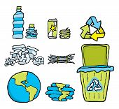 Environmental Conservation or Recycling Set