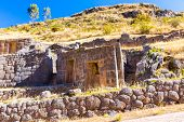 Tambomachay -archaeological Site In Peru, Near Cuzco. Devoted To Cult Of Water, Here He Loved To Res
