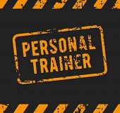 Personal trainer rubber stamp