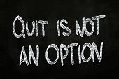 Quit Is Not An Option