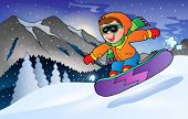 Winter mountain sport theme 3 - eps10 vector illustration.