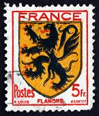 Postage Stamp France 1944 Arms Of Flanders