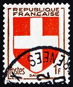 Postage Stamp France 1949 Arms Of Savoy