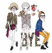 illustration fashion sketch trend girl