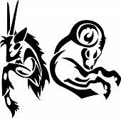 Capricorn with Goat Zodiac