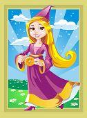 Beautiful fairy with a magic pulsar
