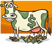 Cash-Cow sagen Cartoon-illustration