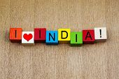 I Love India, Sign Series for Countries and Travel