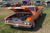 1966 Orange Chevy El Camino Front View