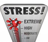 Stress Thermometer Measure Stressful Overload Feeling