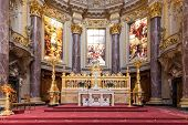 Berlin, Germany - July 22: Altar Of Berliner Dom, Biggest Protestant Church Of Berlin And A Main Tou