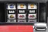 Slot Machine And Jackpot Three Bars