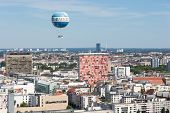 Berlin, Germany - July 24:  The Welt Balloon Is A Hot Air Balloon That Takes Tourists 150 Metres Int