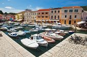 VELI LOSINJ, CROATIA - JUN 10: Boats in a small marina on June 10, 2013 in Veli Losinj, Croatia. Isl