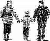 Family At Walk.eps