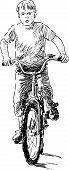Boy Riding A Bike.eps