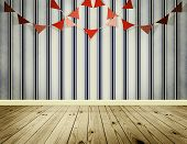 Wallpaper Background With Pennants Festoon