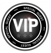 An illustrated badge symbolizing a very important person or special guest to an event or party.