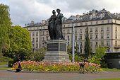 National Monument With Geneva And Helvetia , Geneva, Switzerland