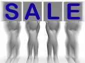 Sale Placards Shows Special Promotions And Retails