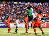Sisaket Thailand-may 28: Lucas Daniel Of Sisaket Fc. In Action During Thai Premier League Between Si