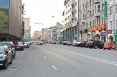 Novoslobodskaya Street, Moscow In Workday Evening