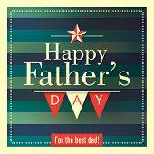 Father's day card with retro design. Vector illustration.