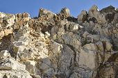 picture of mountain chain  - Detail of rocky mountain located in the mountain chain of Ronda Malaga Spain - JPG