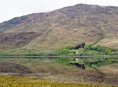Scottish Loch And Reflection